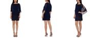 XSCAPE Embellished Overlay Shift Dress