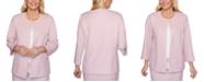 Alfred Dunner Petite Primrose Garden Lace-Trimmed Jacket
