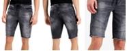 GUESS Men's Slim-Fit Stretch Drawstring Denim Moto Shorts