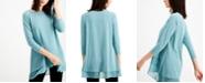 Alfani Sheer Crossover-Hem Tunic, Created for Macy's