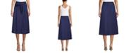 Anne Klein Linen Midi Skirt