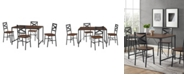 Walker Edison 5-Piece Angle Iron Dining Set with X Back Chairs