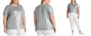 Lauren Ralph Lauren Plus-Size Metallic T-Shirt