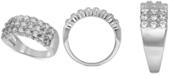 Macy's Diamond Three Row Band (2-1/4 ct. t.w.) in 14k White Gold