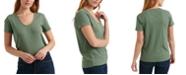 Lucky Brand Pointelle Scoop-Neck T-Shirt