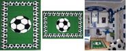 """Fun Rugs Fun Time Soccer Time 19"""" x 29"""" Area Rug"""