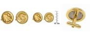 American Coin Treasures Gold-Layered Buffalo Nickel Bezel Coin Cuff Links