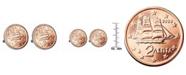 American Coin Treasures Greek 2-Euro Coin Cufflinks