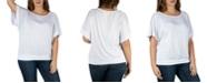 24seven Comfort Apparel Women's Plus Size Short Sleeve Loose Fitting Dolman Top