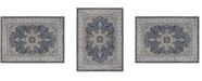 "Global Rug Designs Haven Hav09 Navy and Ivory 6'6"" x 9'6"" Area Rug"