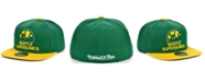 Mitchell & Ness Seattle SuperSonics Wool 2 Tone Fitted Cap