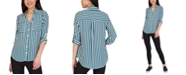 BCX Juniors' Striped Collared Shirt