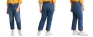 Levi's Trendy Plus Size 501 Cropped Straight-Leg Jeans