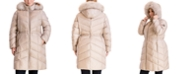 Michael Kors Plus Size Faux-Fur-Trim Hooded Down Puffer Coat