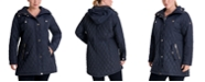 Michael Kors Plus Size Hooded Quilted Anorak Coat, Created for Macy's