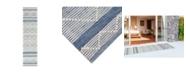 Liora Manne' Liora Manne Artista Diamond Stripe 2' x 8' Runner Rug