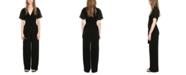 Michael Kors Flutter-Sleeve Belted Jumpsuit, Regular & Petite Sizes