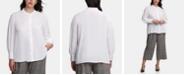 Calvin Klein Plus-Size Scallop-Trim Blouse