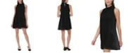 Tommy Hilfiger Velvet Houndstooth A-Line Dress