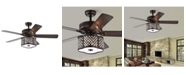 """Home Accessories Edard 52"""" 3-Light Indoor Remote Controlled Ceiling Fan with Light Kit"""