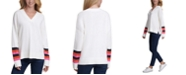 Tommy Hilfiger Striped-Sleeve Sweater