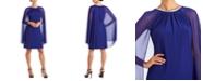 R & M Richards R&M Richards Embellished Cape-Overlay Sheath Dress