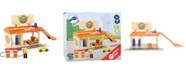 Legler USA Small Foot Wooden Toys Auto Repair Shop and Gas Station Playset