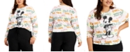 Love Tribe Trendy Plus Size Mickey Mouse Graphic-Print Top