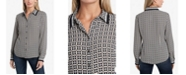 Vince Camuto Women's Long Sleeve Button Down Blouse