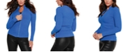 Belldini Black Label Mock Neck Ribbed Sweater Zip Up