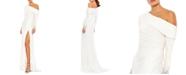 MAC DUGGAL One-Shoulder Long-Sleeve Gown