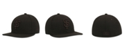 New Era Kids' San Francisco Giants MLB Black on Black Fashion 59FIFTY Cap