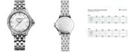 Raymond Weil Women's Swiss Tango Diamond-Accent Stainless Steel Bracelet Watch 30mm 5960-STS-00995