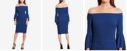 Lauren Ralph Lauren Off-The-Shoulder Sheath Dress