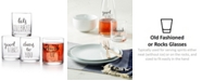 The Cellar CLOSEOUT! Words 4-Pc. Old Fashioned Glass Set, Created for Macy's