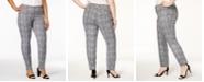 Alfani Plus Size Bi-Stretch Hollywood Printed Skinny Pants, Created for Macy's