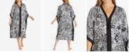 Ellen Tracy Plus Size Wide-Sleeve Printed Caftan