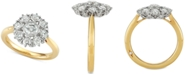 Marchesa Diamond Floral Engagement Ring (1-1/3 ct. t.w.) in 18k Gold, Created for Macy's