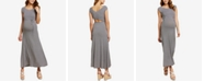 Jessica Simpson Maternity Cap-Sleeve Maxi Dress