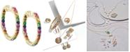 EFFY Collection Watercolors by EFFY® Multi-Gemstone Hoop Earrings (1-3/4 ct. t.w.) in 14k Gold