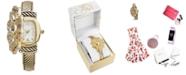Charter Club Women's Gold-Tone Flip Crystal Flower Bracelet Watch 35mm, Created for Macy's