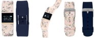 iTouch iFitness Pulse Women's Blush Floral & Navy Blue Silicone Strap Smart Watch 20x18mm