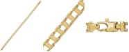 Macy's Polished Railroad Link Chain Bracelet in 14k Gold