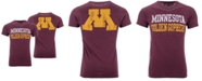 Retro Brand Men's Minnesota Golden Gophers Team Stacked Dual Blend T-Shirt