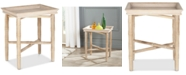 Furniture Norton Tray Top Side Table, Quick Ship