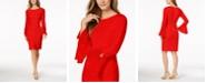 Calvin Klein Chiffon-Bell-Sleeve Sheath Dress