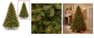 """National Tree Company National Tree 7 .5' """"Feel-Real"""" Lakewood Spruce Hinged Tree with 700 Dual Color LED Lights"""
