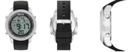 Kenneth Cole Reaction Men's Digital Black Silicone Strap Watch 50mm