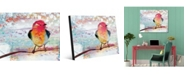 "Creative Gallery Crimson Chikadee Bird 24"" X 36"" Acrylic Wall Art Print"