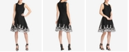 DKNY Sleeveless Embroidered Fit & Flare Dress, Created for Macy's